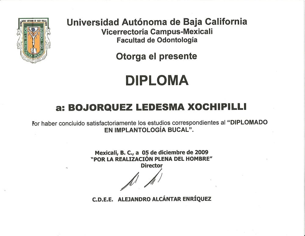 Certificate Implantology