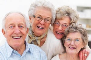 older adults smiling